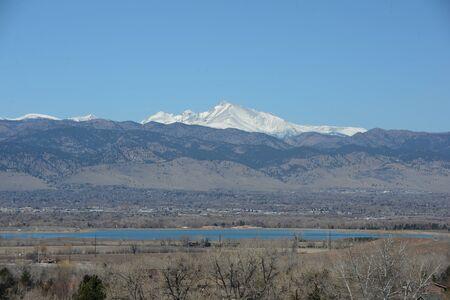 longs peak: A majestic fourteener Longs Peak Stock Photo