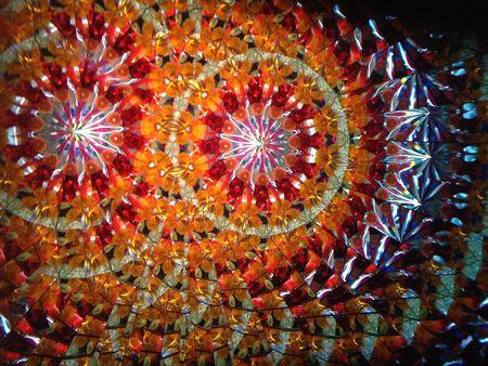 Orange kaleidosope pattern Stok Fotoğraf