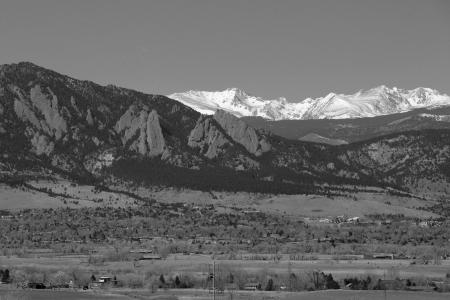 Black and White Flatirons at Boulder