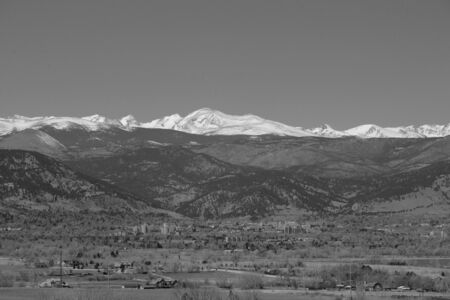 Black and White Continental divide above Boulder Stok Fotoğraf