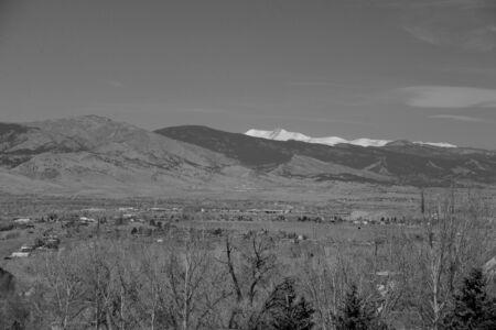Black and white Snow capped peaks Stok Fotoğraf