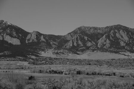 Black and White Entrance to Eldorado Canyon in the Rockies photo