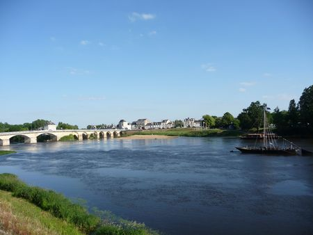 chinon: Views of the river Loire, taken from Chinon