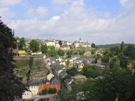 Old town Luxembourg city Luxembourg