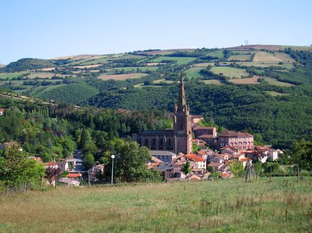rance: Typical rural french village of Belmont sur Rance - Aveyron - France