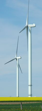 Two windturbines France