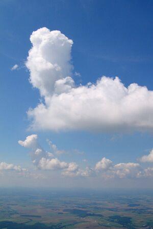 convection: Veduta aerea del velivolo da convezione Cumulus nuvole in tedesco cielo - Saarbrucken Arround - Saarland