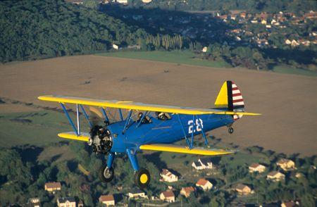 Biplane Boeing PT-17 Kaydet  Stearman model A-75