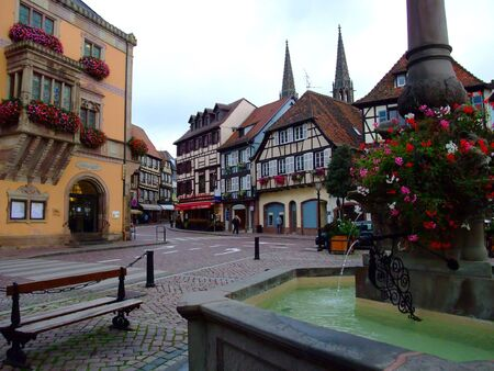 Townhall on the central place of Obernai town - Alsace France Stock Photo - 4086807
