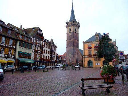 central place of Obernai city - Alsace France Stock Photo - 4086804