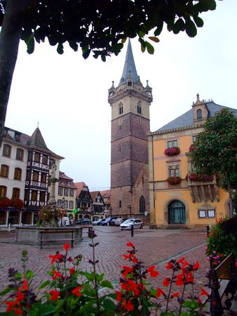 central place of Obernai town - Alsace France Stock Photo - 4086757