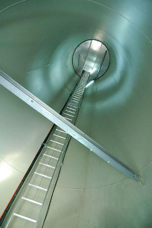 windturbine: Inside view of a wind turbine Stock Photo