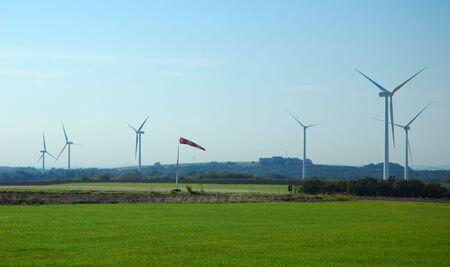 wind cone near a wind farm in France