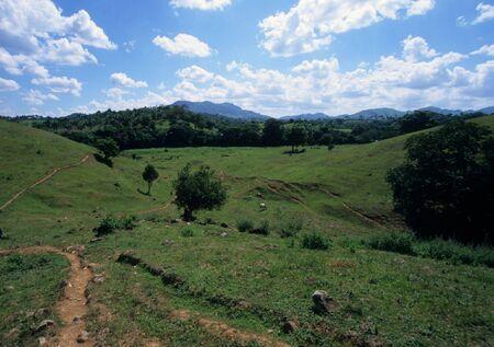 countryside landscape in Dominican republic island