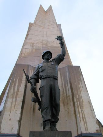 A 90 meter high monument built in Algiers, northern Algeria. Monument built to remember the marthyrs (Maquam E'chahid) who died in the Algerian revolution and independence. Stock Photo - 6081377