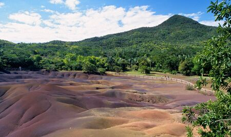 Geologic formation of Chamarel called