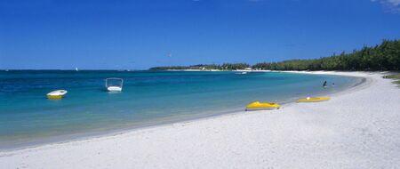 Belle Mare beach at Mauritius Island, Indian Ocean