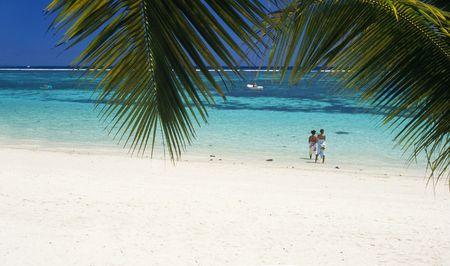 aux: Trou aux biches beach, Mauritius Island. Indian Ocean