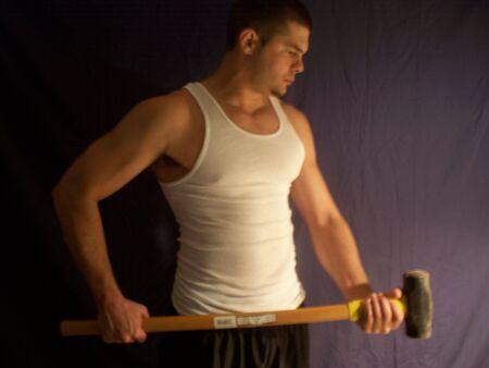 sledgehammer: Man with sledgehammer