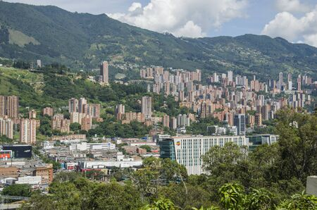 Cityscape of Medellin, Antioquia, Colombia, in its mountainous surroundings Stock Photo