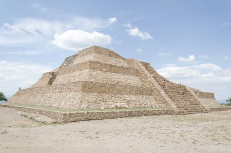 Otomi pyramid at the Pahñu archeological site, in Hidalgo, Mexico