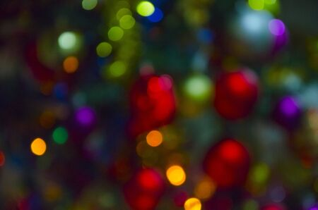 Colorful abstract background: varied colored lights out of focus Banco de Imagens