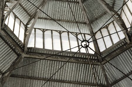 Urban detail: interior of the ceiling of the San Telmo Market, in Buenos Aires, Argentina