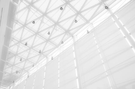 Capital Federal, Buenos Aires / Argentina; Ago 12, 2015: White architecture, Malba roof seen from the inside Foto de archivo