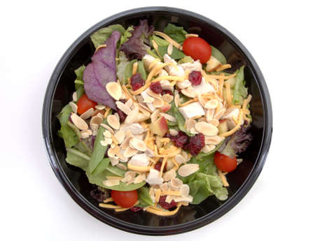A healthy fast food salad. (Isolated, 12MP camera) Фото со стока