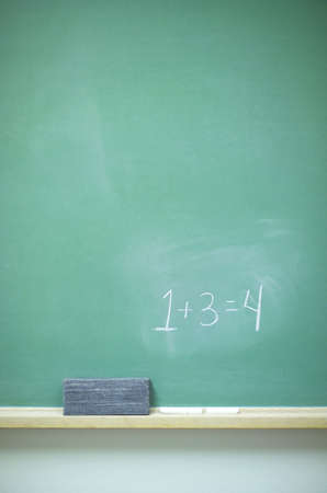 Chalkboard with math, eraser, and chalk (14MP camera)