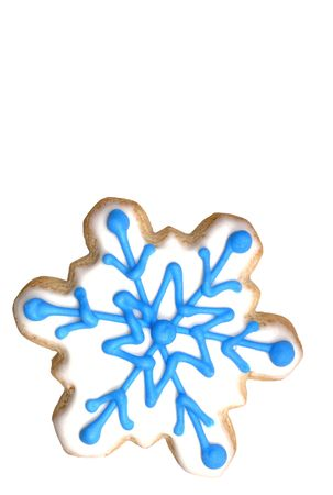 Snowflake sugar cookie (series). Isolated. 12MP camera