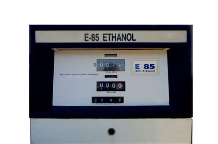 Real, very hard to find ETHANOL fuel pump (alternative fuel). Isolated, 12MP camera. Фото со стока - 598118