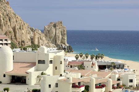 A resort in Cabo San Lucas, Baja California Sur, Mexico beside Finesterra Rock. 12MP camera.