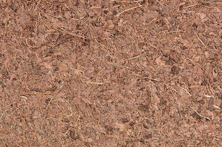 A macro of coir (ground coconut shell fibers), a renewable resource (peat moss alternative). 12MP camera. Фото со стока
