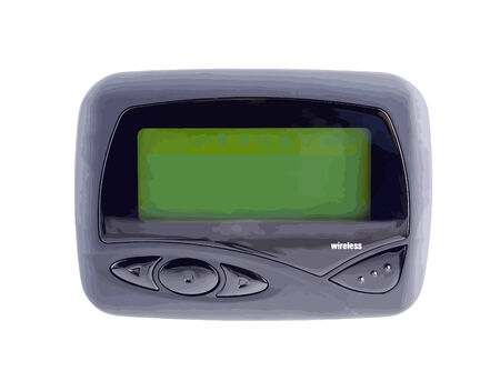 Wireless pager with a blank screen used to send and receive email,messages,sports,financial,and weather news. VECTOR