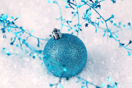 Blue glitter Christmas ornament Stock Photo