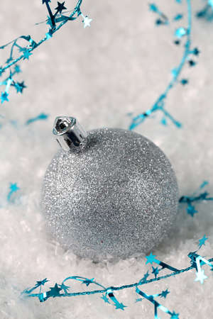 Silver glitter Christmas ornament