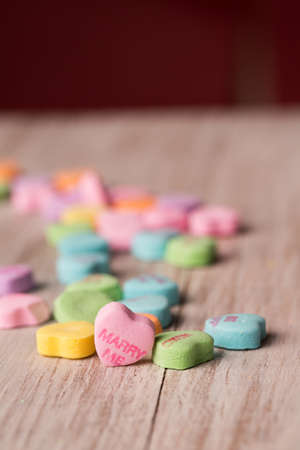 Marry Me conversation heart Valentines Day treat Imagens - 25520909