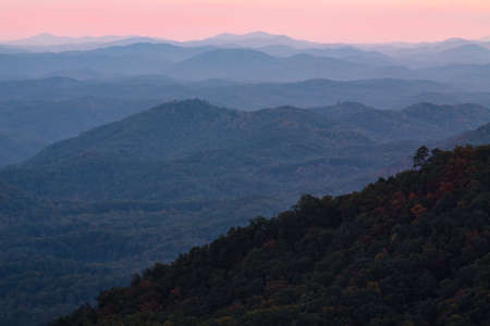Sunset at Look Rock Smoky Mountains National Park Tennessee