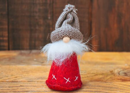 Gnome Decoration Christmas Background Standard-Bild - 138039511