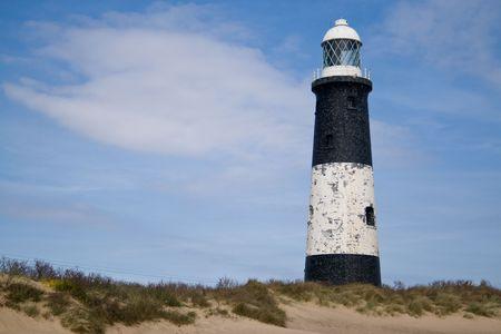 spurn: Spurnhead lighthouse Stock Photo