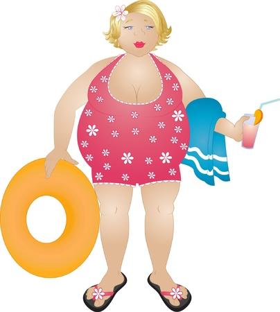 Plump blonde Frau Standard-Bild - 17081079