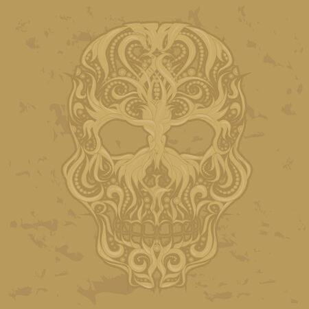 scull: Abstract Scull Ornamental Vector Illustration