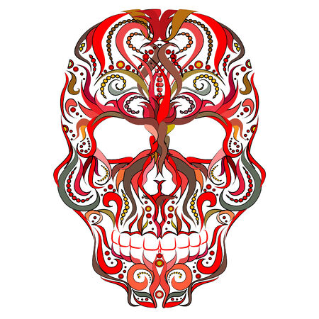Abstract Scull ,Colorful Ornamental Vector Illustration Vector