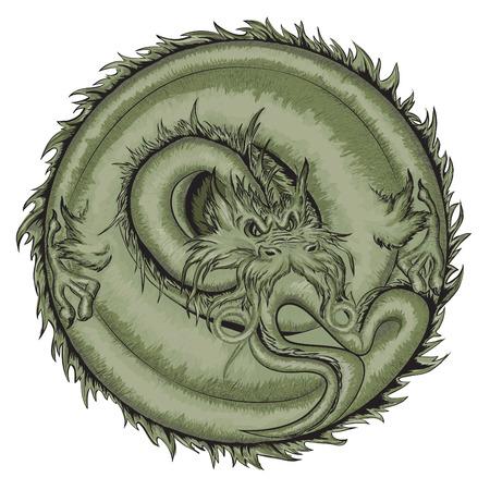 Dragon, Vector illustration. Vector