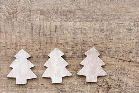 christmas tree background: wooden xmas tree