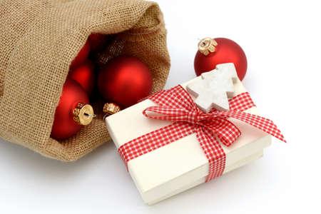 enveloped: Xmas present and santa bag