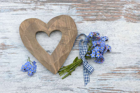 Heart and forget me not photo