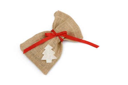 sac: santa sac isolated on white