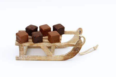 toboga: domino pieces  on toboggan